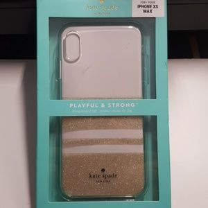 "Case kate spade for iphone xs max 6.5"" clear-gold"